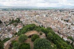 Гранада от Альгамбра Стоковые Фотографии RF