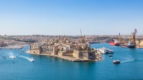 грандиозная гавань malta Стоковые Фотографии RF