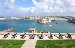 грандиозная гавань valletta стоковые фото
