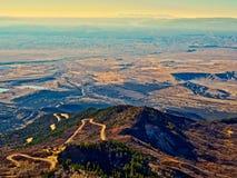 Грандиозная долина от дороги конца ` s земли Стоковое Изображение RF