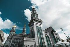 Грандиозная мечеть собора в Москве стоковое фото