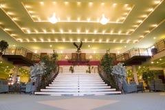 грандиозное лобби гостиницы Стоковые Изображения