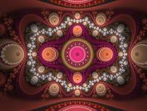 Грандиозное юлианское пламя фрактали иллюстрация вектора