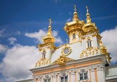 грандиозное peterhof дворца Стоковая Фотография