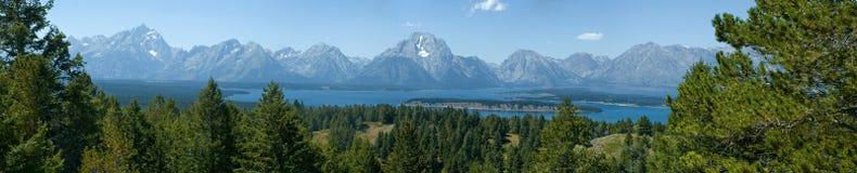 грандиозные tetons отражений национального парка Стоковое фото RF