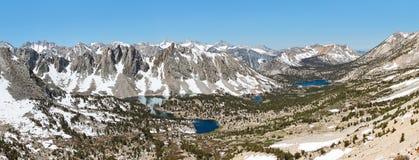Грандиозный высокогорный взгляд в Сьерре Неваде Стоковые Изображения RF