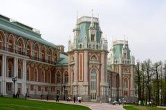 грандиозный дворец возвышается tsaritsyno Стоковые Изображения RF