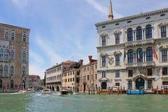 Грандиозный канал в Венеции Италии стоковые изображения rf