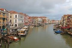 Грандиозный канал в Венеции Италии стоковое изображение