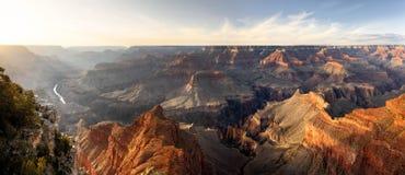Грандиозный каньон, заход солнца Стоковая Фотография RF