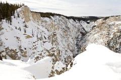Грандиозный каньон Йеллоустона Стоковые Фотографии RF