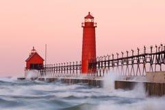 грандиозный маяк гавани стоковые изображения