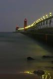 грандиозный маяк гавани Стоковое Изображение RF