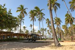 Грандиозный пляжный ресторан палладиума стоковое изображение