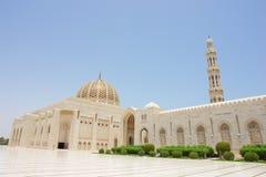 грандиозный султан qaboos Омана маската мечети Стоковое Изображение