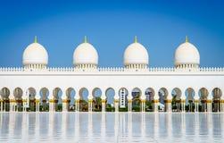 грандиозный zayed шейх мечети Стоковая Фотография