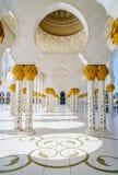 грандиозный zayed шейх мечети Стоковое Изображение