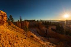 Гранд-каньон, Аризона, пейзаж перспективы в осени на восходе солнца Стоковое Изображение RF
