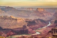 Гранд-каньон, Аризона, США от южной оправы стоковая фотография rf