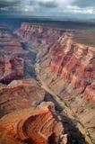 Гранд-каньон Аризона увиденная от самолета стоковые изображения rf