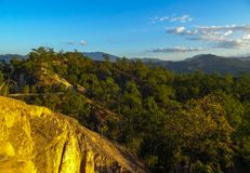Гранд-каньон в Pai Таиланде на заходе солнца стоковые фотографии rf