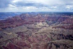Гранд-каньон от плоского взгляда Стоковое Изображение