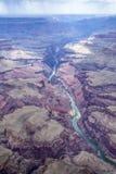 Гранд-каньон от плоского взгляда Стоковое Изображение RF