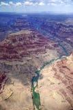 Гранд-каньон от плоского взгляда Стоковые Фотографии RF