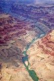 Гранд-каньон от плоского взгляда Стоковые Фото