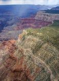 Гранд-каньон от плоского взгляда Стоковая Фотография