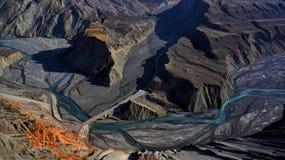 Гранд-каньон Hongshan, Синьцзян стоковые изображения rf