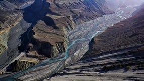 Гранд-каньон Hongshan, Синьцзян стоковое изображение