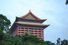 Гранд-отель в arcitecture традиционного китайского Тайбэе, Тайване стоковое фото rf