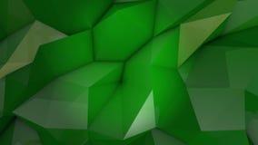 Граненная предпосылка зеленого изумруда закрепляя петлей видеоматериал