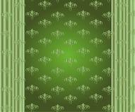 Граница абстрактного вектора флористическая орнаментальная Дизайн картины шнурка на зеленом цвете Стоковое фото RF