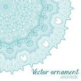 Граница абстрактного вектора флористическая орнаментальная Дизайн картины шнурка Стоковое фото RF