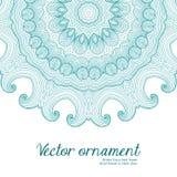 Граница абстрактного вектора флористическая орнаментальная Дизайн картины шнурка Стоковое Изображение RF