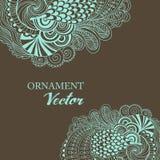 Граница абстрактного вектора флористическая орнаментальная Стоковое Изображение