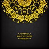 Граница абстрактного круга вектора флористическая орнаментальная Стоковые Фото