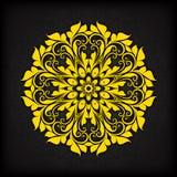 Граница абстрактного круга флористическая орнаментальная Стоковые Фотографии RF