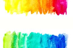 Граница абстрактной краски руки искусства акварели на белой предпосылке желтый цвет акварели стародедовской предпосылки темный бу стоковые изображения rf