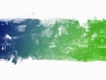 Граница акварели голубая и зеленая Стоковое Изображение