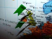 Граница Англии Шотландии Стоковое Изображение RF