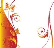 Граница бабочки Стоковая Фотография