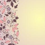 Граница барбариса, нарисованная вручную картина ягоды Стоковое Изображение RF