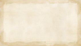 Граница бежевого коричневого grunge ретро текстурировала предпосылку PowerPoint w Стоковая Фотография RF