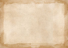 Граница бежевого коричневого grunge ретро текстурировала предпосылку PowerPoint w Стоковые Фото