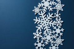 Граница белых снежинок Стоковые Фото