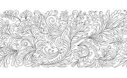 Граница вектора богато украшенная безшовная в восточном стиле Элемент для дизайна, места для текста Орнаментальная винтажная карт иллюстрация вектора