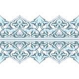 Граница вектора богато украшенная безшовная в восточном стиле Стоковые Изображения RF